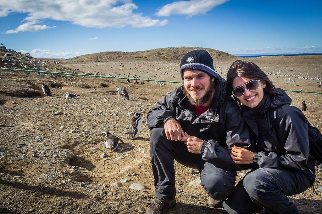 Passeio na Isla Magdalena - Os pinguins ficam realmente muito perto da trilha.