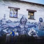 Ushuaia - Grafitti no correio municipal 2