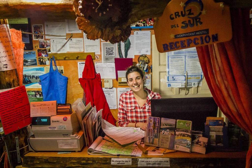Ushuaia - Hostel Cruz del Sur - Recepção