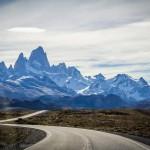 Caminho para El Chaltén - Vista para as montanhas