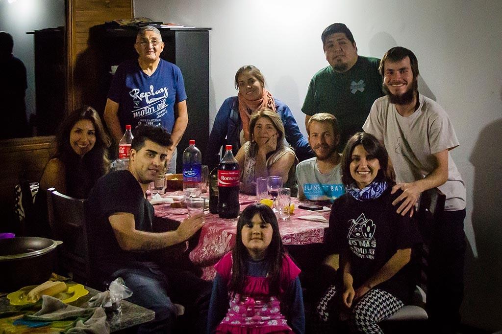 El Calafate - Jantar com a família de Willy