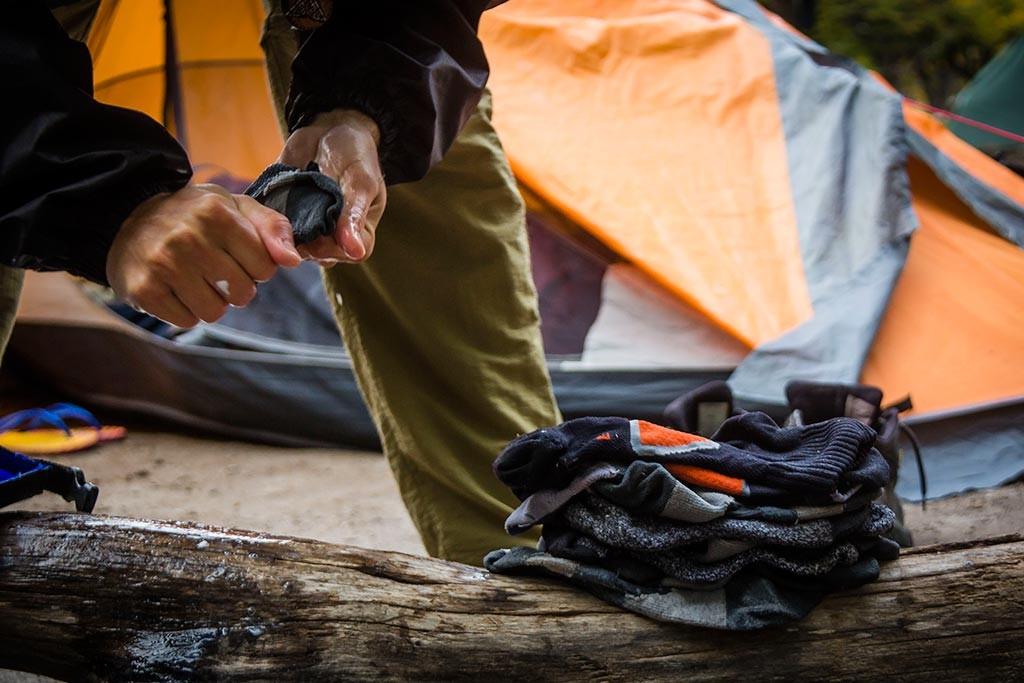 El Chaltén - Acampamento de Agostini - Lavando meias