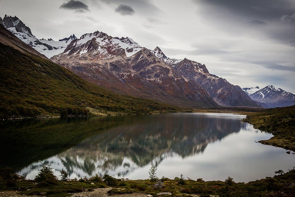 El Chaltén - Laguna Madre e o espelho d'água
