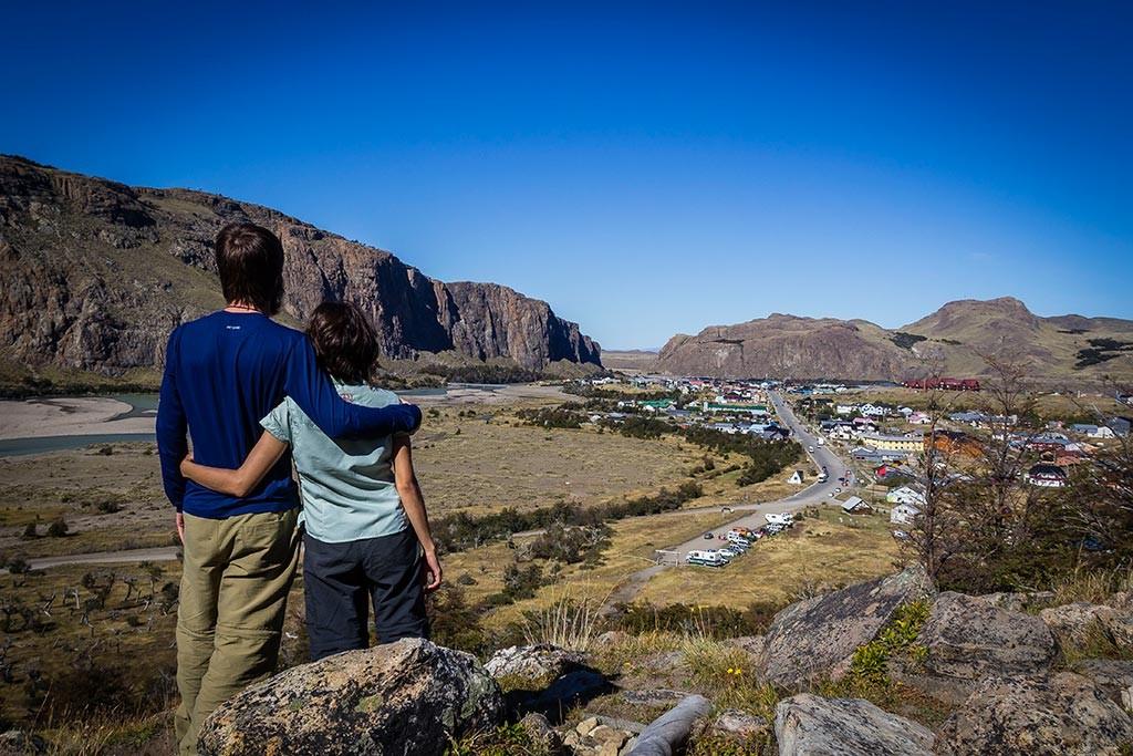 El Chaltén - Nós e a vista para a cidade
