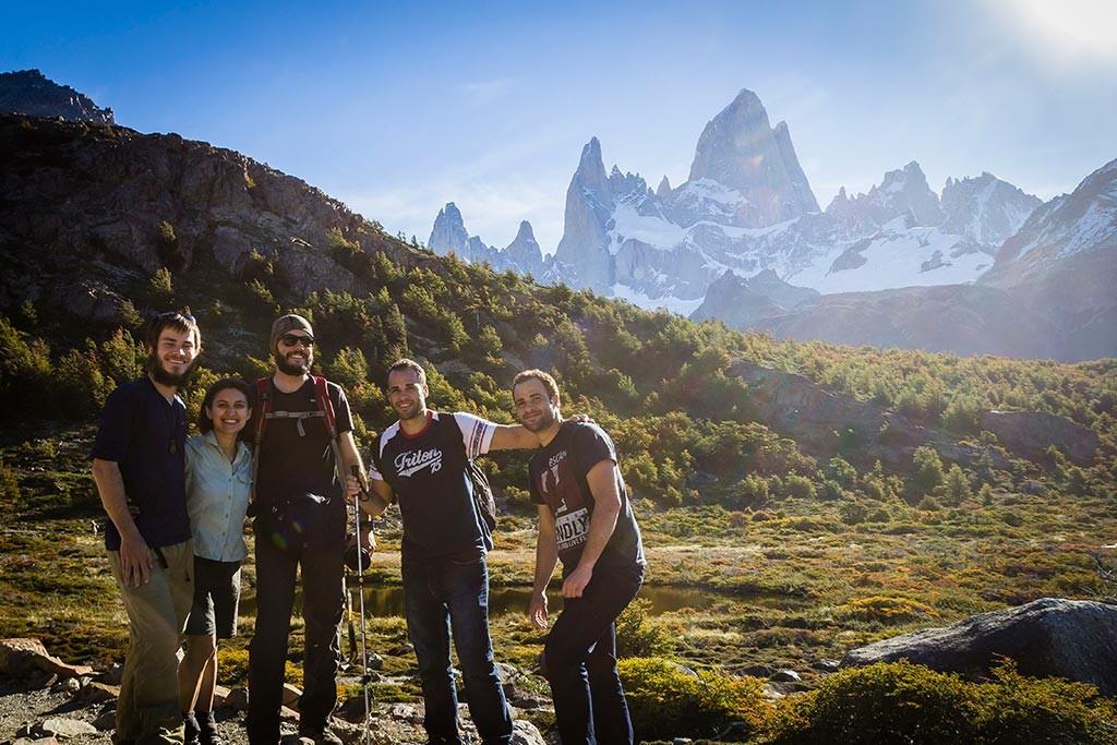 El Chaltén - Trilha para Laguna de Los Tres - Nós, Jan, Jean e Glauco