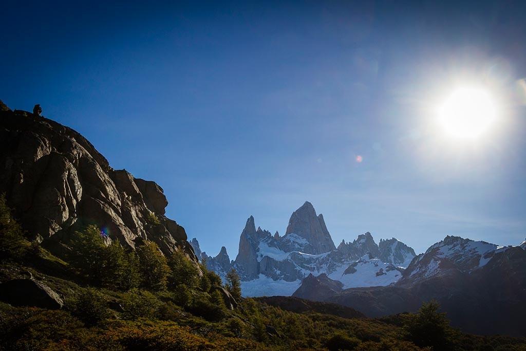 El Chaltén - Trilha para Laguna de Los Tres - Pedra solitária