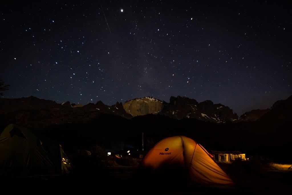 Torres del Paine - Anoitecer no acampamento Dickson
