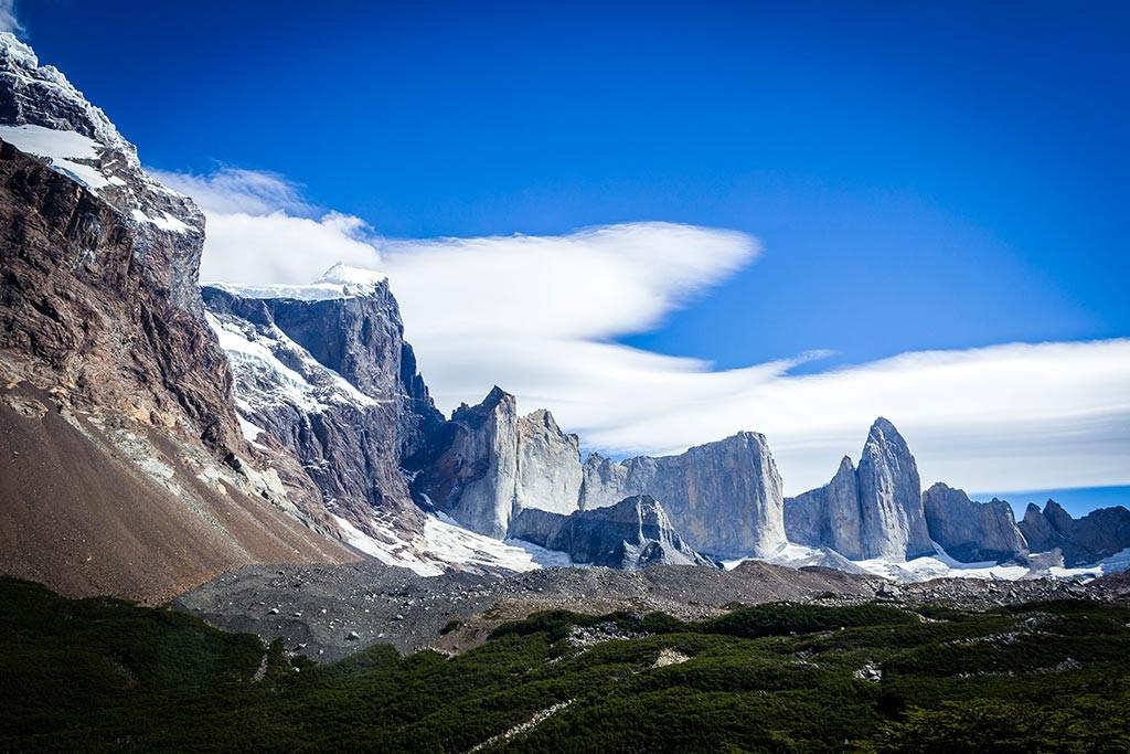 Torres del Paine - Trilha Italiano para Britanico - Panorâmica montanhas