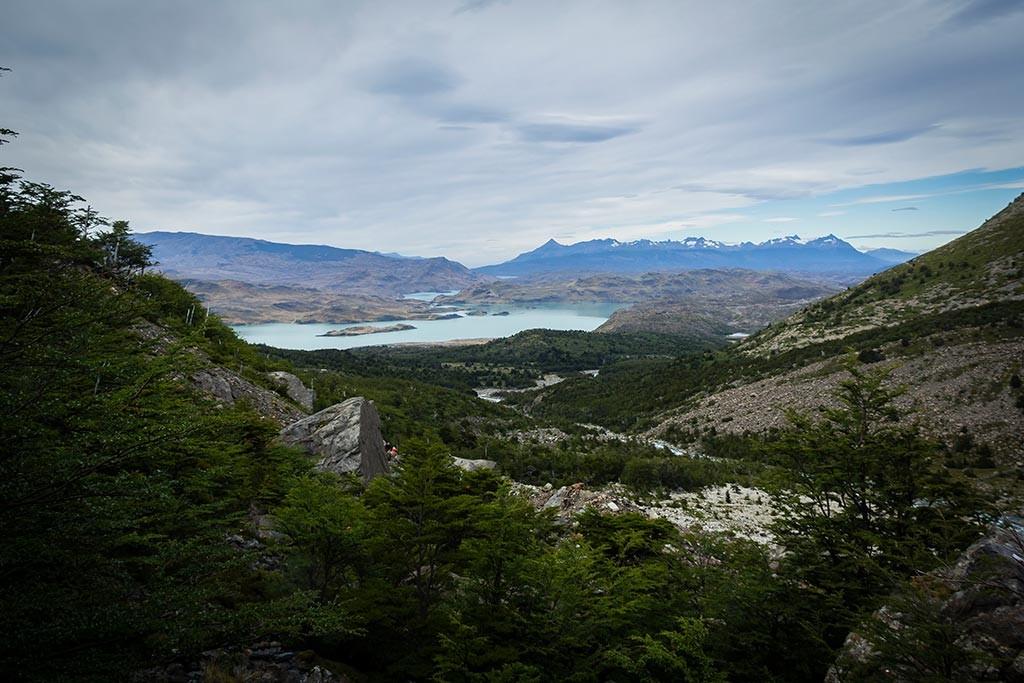 Torres del Paine - Trilha Italiano para Britanico - Vista para os lagos 2