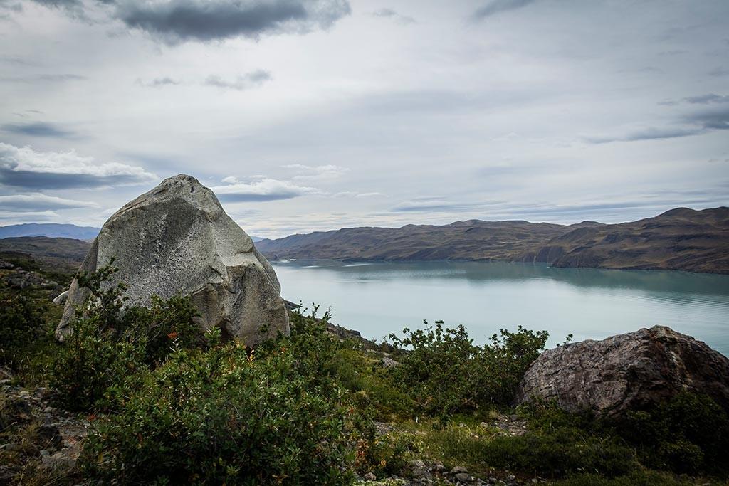 Torres del Paine - Trilha Los Cuernos para Chileno - Vista para o lago 5