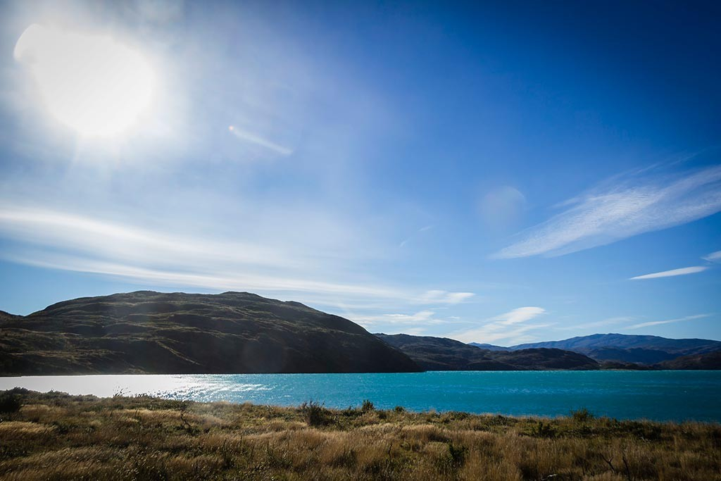 Torres del Paine - Trilha Paine Grande para Las Carretas - Vista para o lago Pehoé