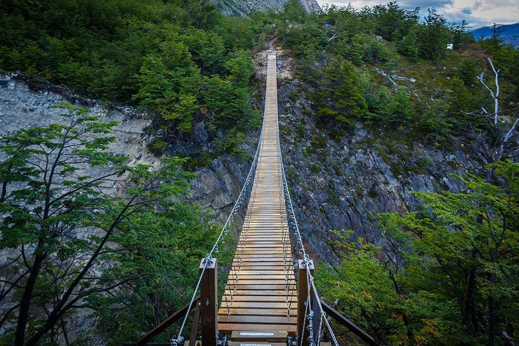 Torres del Paine - Trilha Paso para Grey - Ponte gigante
