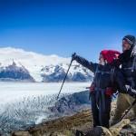 Torres del Paine - Trilha Perros para Paso - Nós e o glaciar Grey no fundo