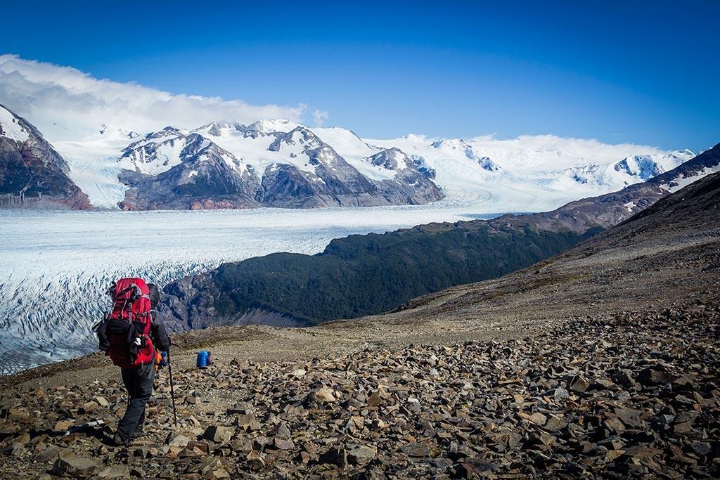 Torres del Paine - Trilha Perros para Paso - Primeiras vistas do glaciar Grey