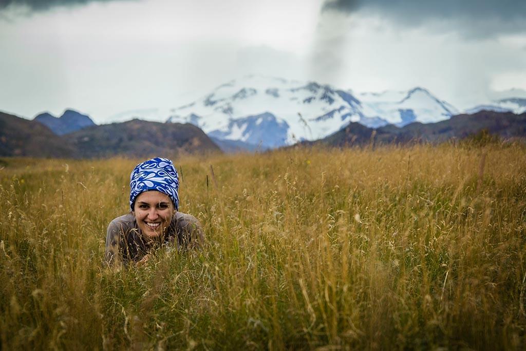 Torres del Paine - Trilha Sede Administrativa para Carretas - Bruna com Paine Grande ao Fundo
