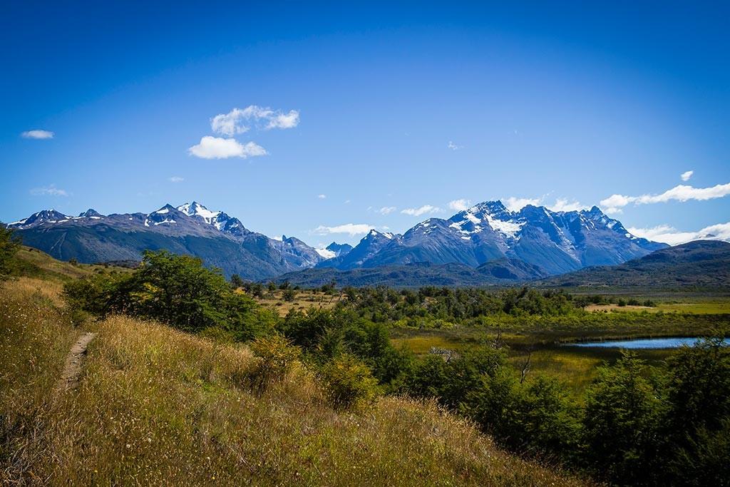 Torres del Paine - Trilha Serón para Dickson - Vista para os montes 3