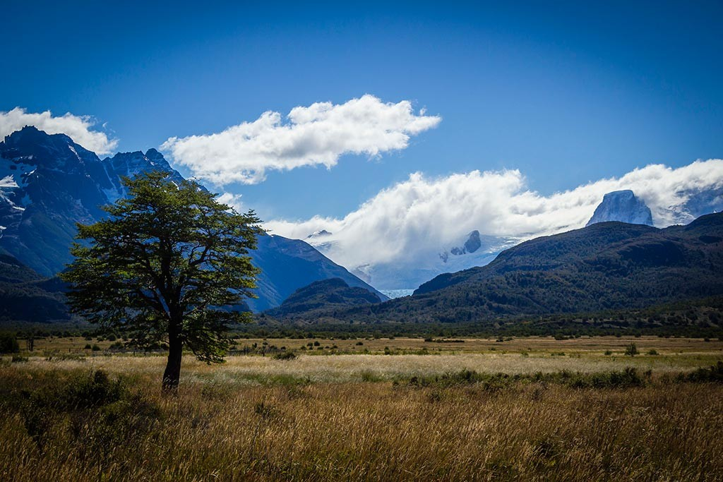 Torres del Paine - Trilha Serón para Dickson - Vista para os montes 5