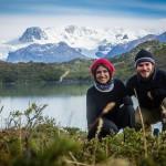Torres del Paine - Vista para o Lago Dickson com glaciar ao fundo