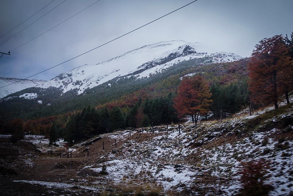 Carretera Austral - Caminho para Coyhaique - Neve e frio