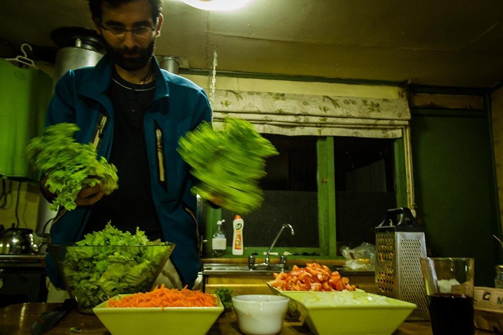 Coyhaique - Roberto e as saladas