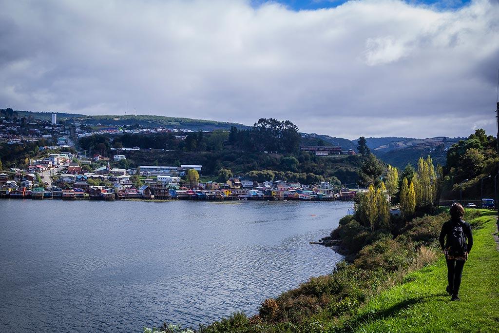 Isla de Chiloé - Castro - Costaneira com vista para as palafitas