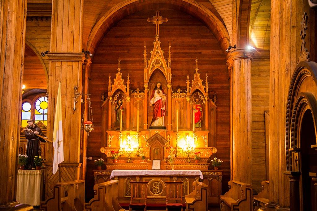 Isla de Chiloé - Castro - Interno Igreja 3