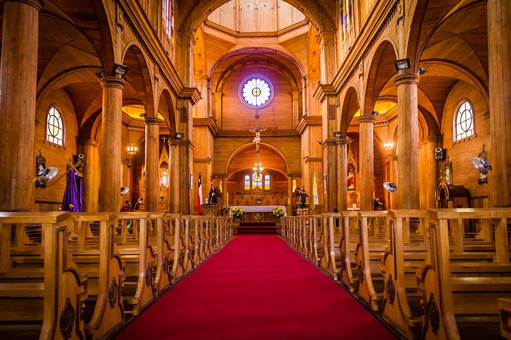Isla de Chiloé - Castro - Vista interna da igreja