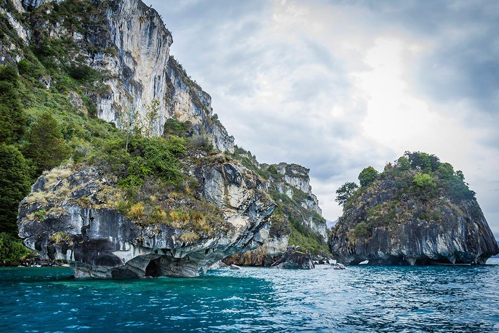Puerto Rio Tranquilo - Navegação Cavernas de Mármore - A capela e a Catedral
