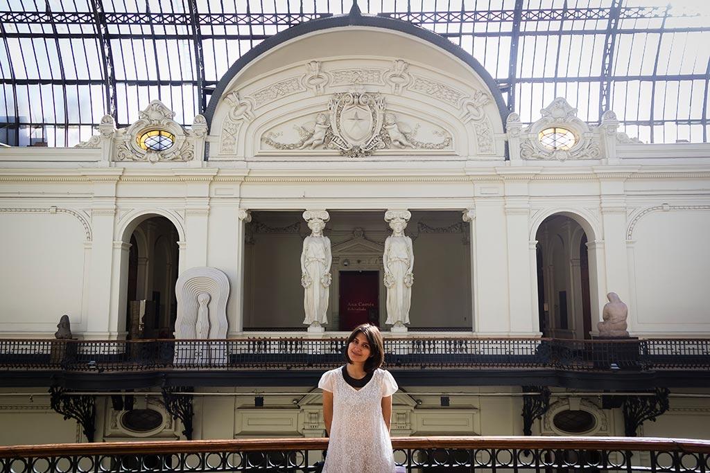 Santiago - Bruna no Museu de Belas Artes