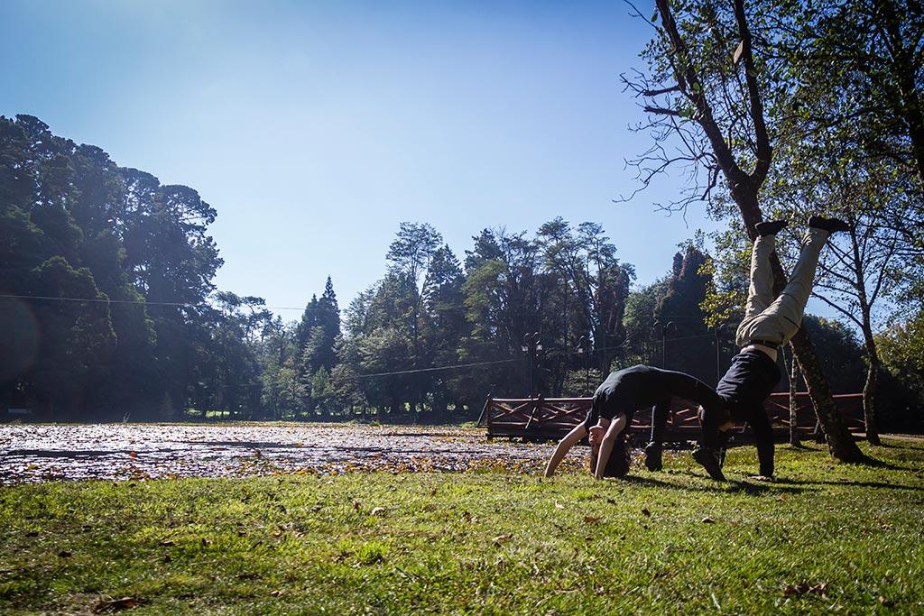 Valdivia - Jardim botânico - Hora de alongar
