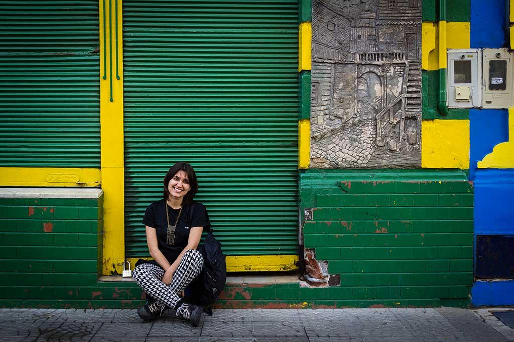 Buenos Aires - Caminito - Bruna e as cores do Brasil