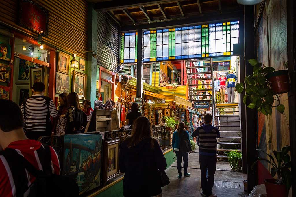 Buenos Aires - Caminito - Galerias de lojas