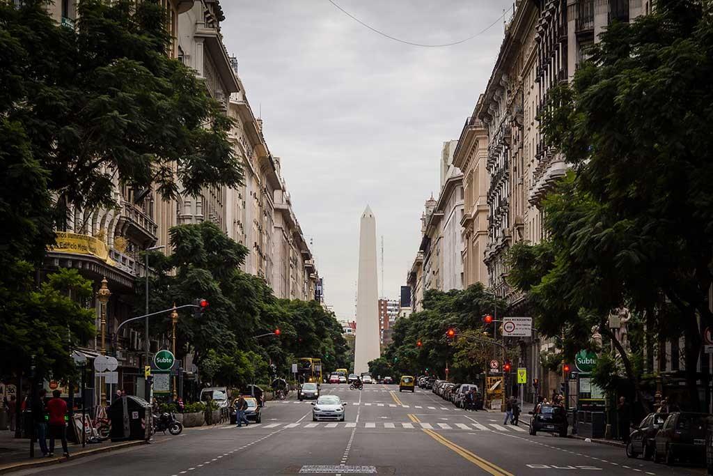 Buenos Aires - Praça 25 de maio - Vista para o obelisco