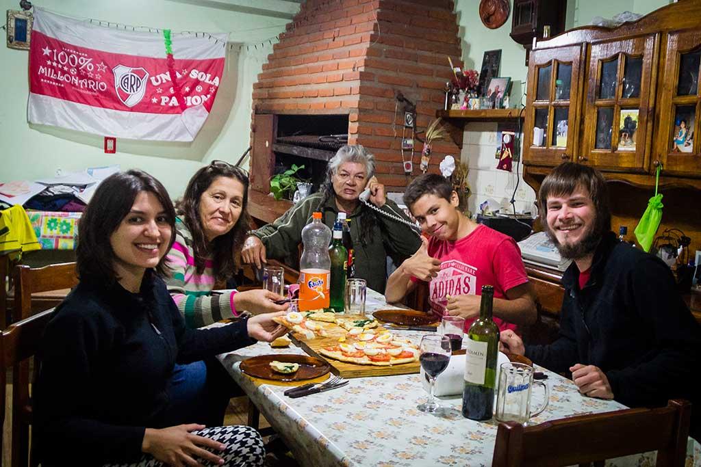 Buenos Aires - Recebidos pela família do Juan