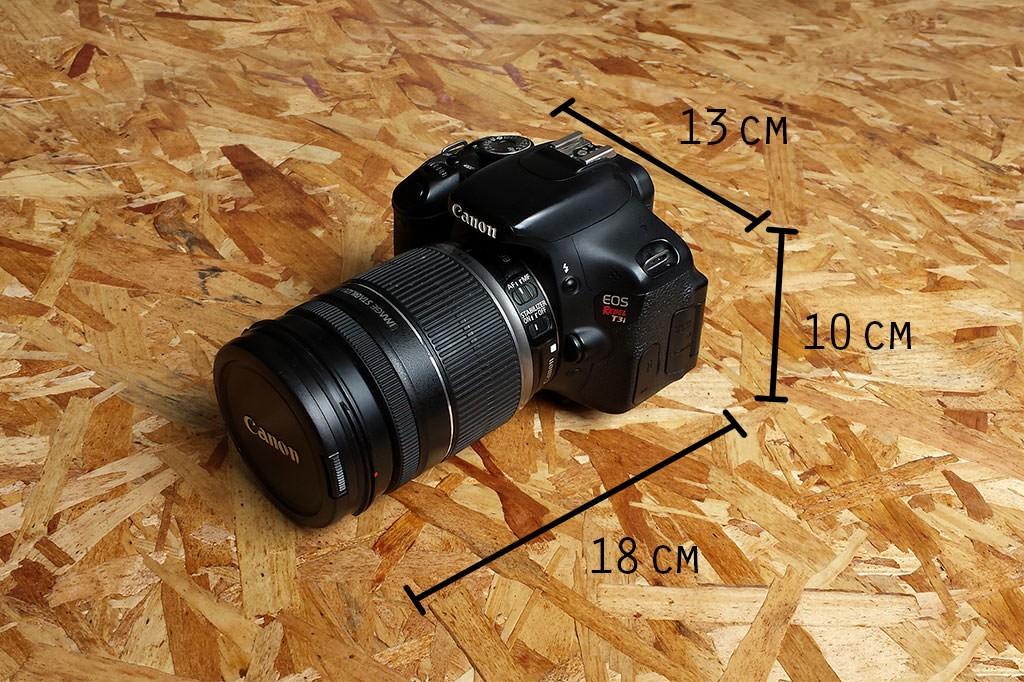 Canon T3i com lente 18-200mm