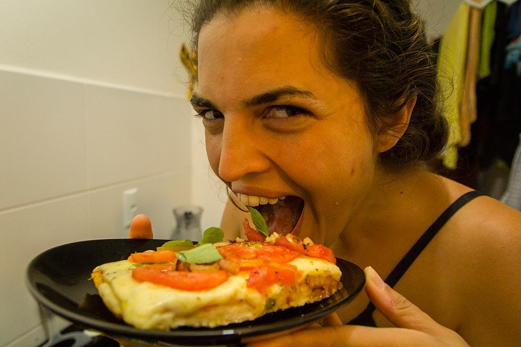 Couchsurfing Jaraguá - Noite das pizzas - Loraine