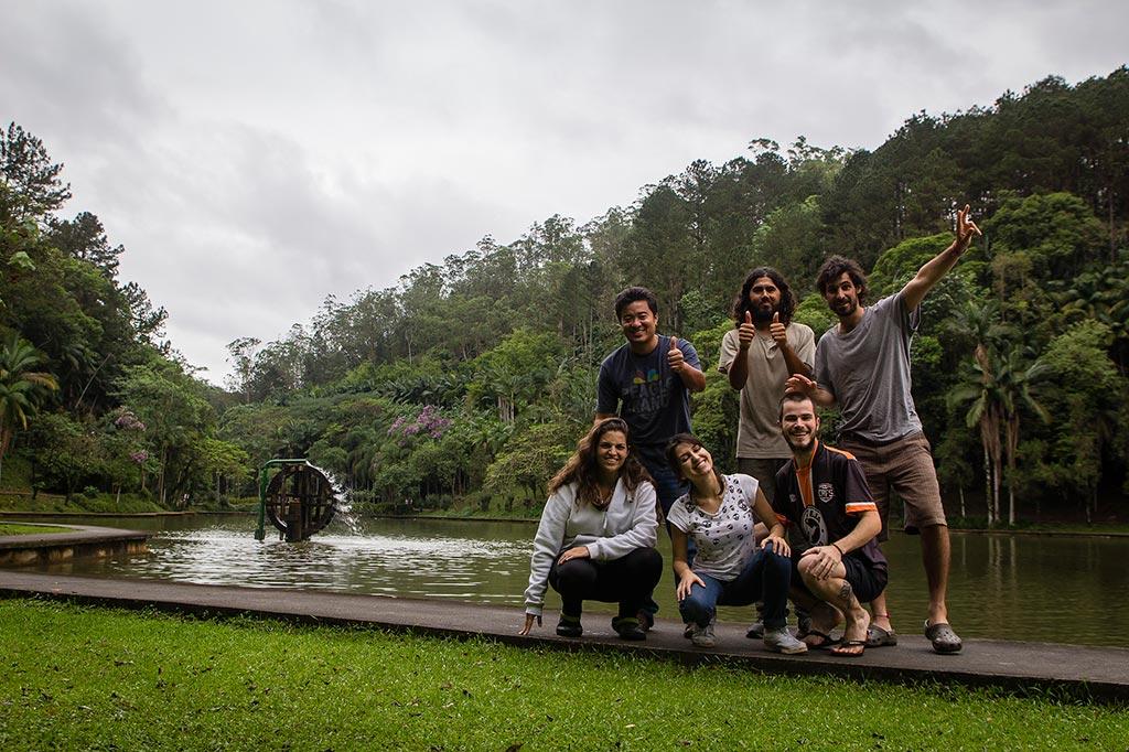 Couchsurfing Jaraguá - Parque Malwee - Jean, Loraine, Juan, Manuel e nós