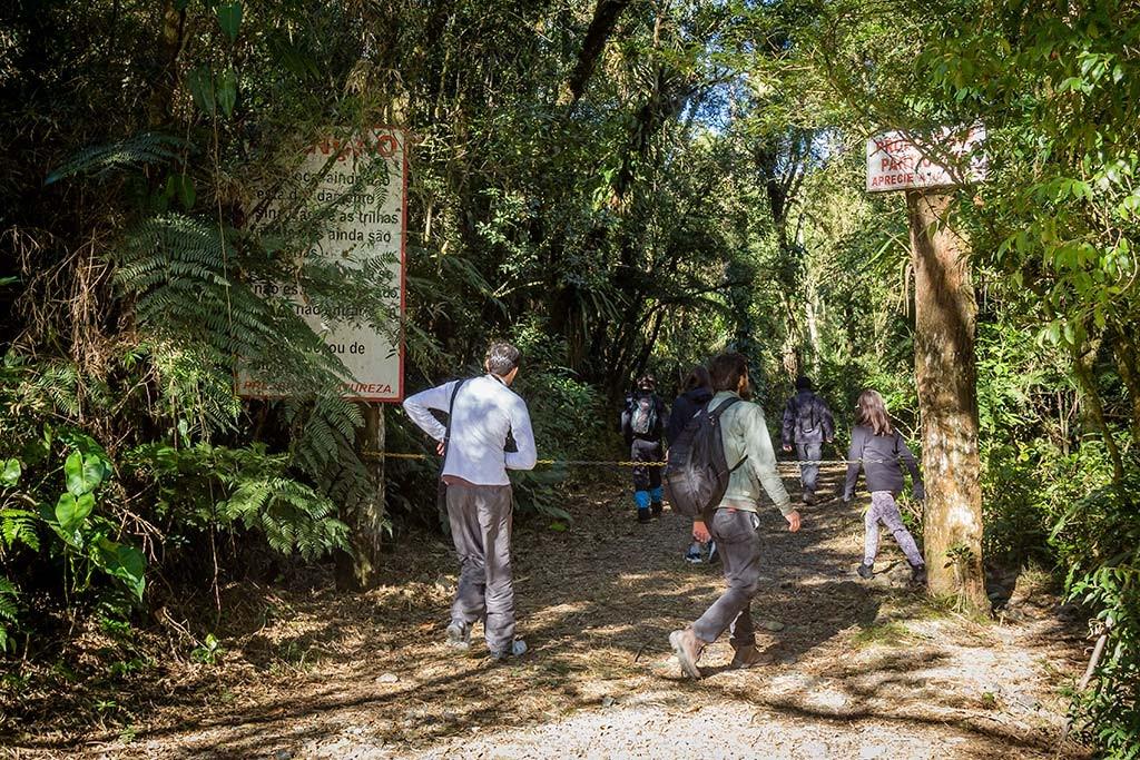 Trekking Castelo dos Bugres - Entrada da Trilha