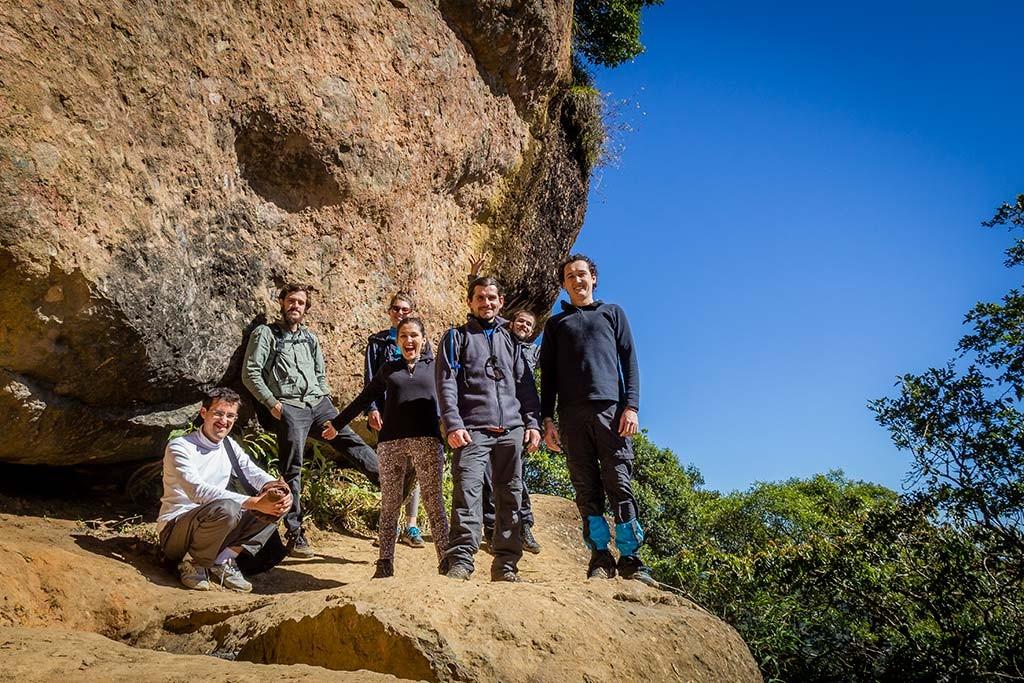 Trekking Castelo dos Bugres - Equipe no topo