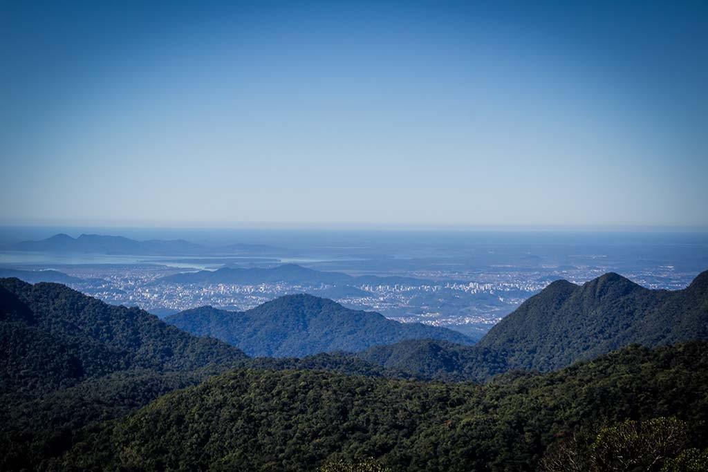 Trekking Castelo dos Bugres - Vista para a cidade de Joinville