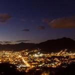 Pedal de Treino - Jaraguá do Sul - Subida Morro das Antenas - Cidade no anoitecer
