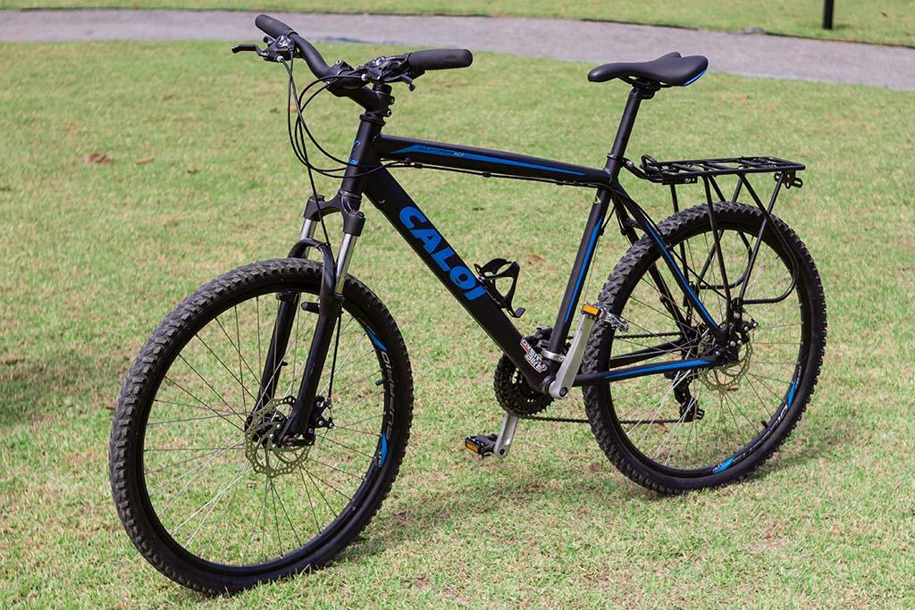 Viagem cicloturismo pelo litoral - Bicicleta pronta com o bagageiro