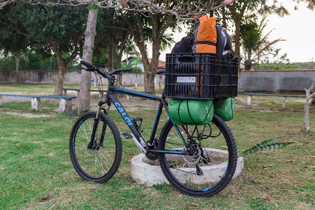 Viagem cicloturismo pelo litoral - Bicicleta pronta e carregada 3
