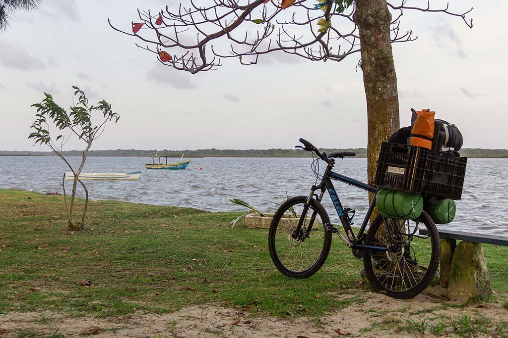 Viagem cicloturismo pelo litoral - Bicicleta pronta e carregada