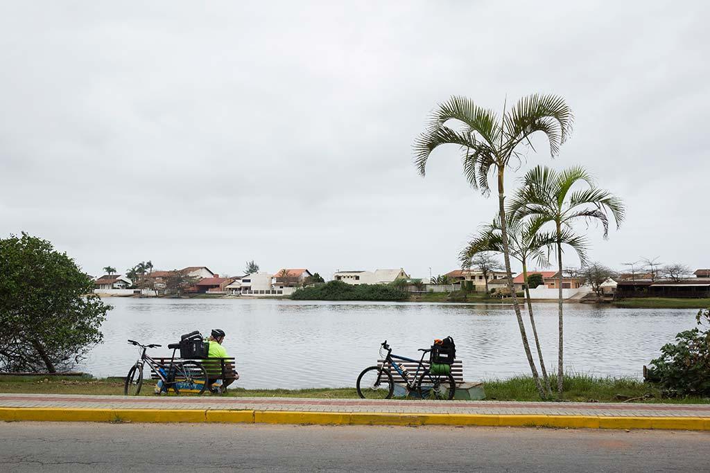 Cicloturismo litoral norte de SC - Dia 1 - Lagoa de Barra Velha