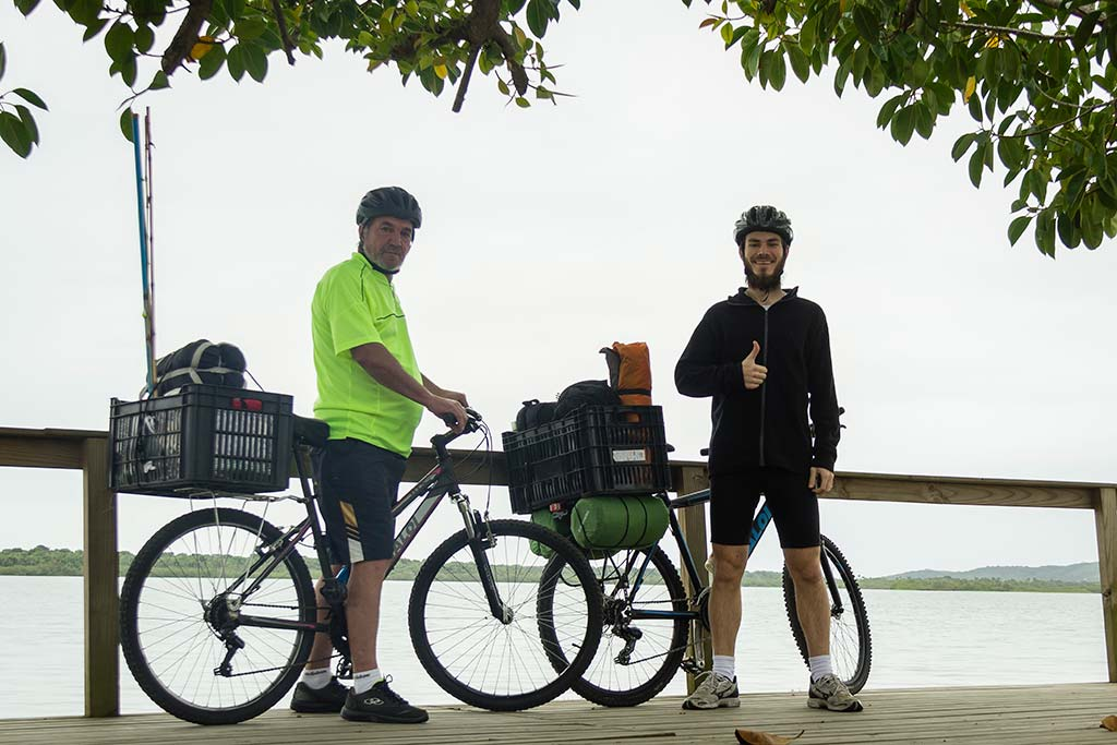 Cicloturismo litoral norte de SC - Dia 1 - Lagoa de Barra do Sul 2