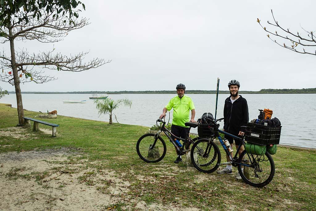 Cicloturismo litoral norte de SC - Dia 1 - Lagoa de Barra do Sul