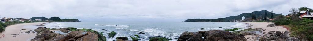 Cicloturismo litoral norte de SC - Dia 1 - Panorâmica Praia Grande