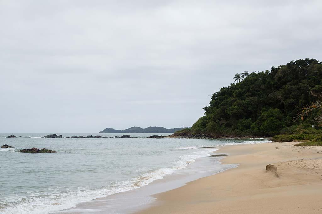 Cicloturismo litoral norte de SC - Dia 1 - Praia da Saudade 2