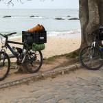 Cicloturismo litoral norte de SC - Dia 1 - Praia da Saudade